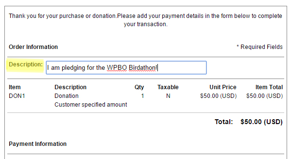 Screenshot for donation form page 2